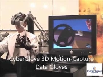 Virtual Reality CyberGlove 3D Motion Capture and Haptic Workstation