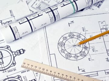 8959427-the-engineering-drawing-stock-photo